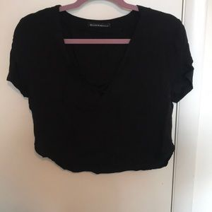 Black brandy Melville crisscross top